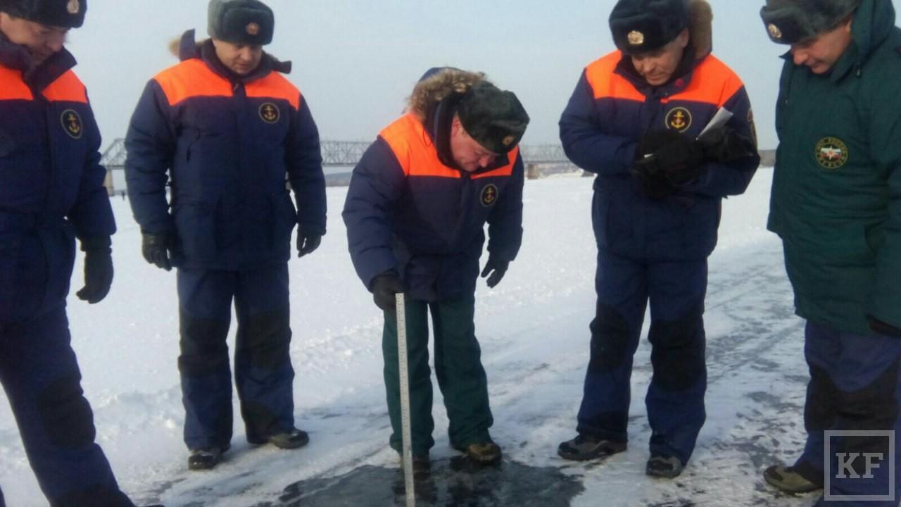 В Зеленодольске официально открылась ледовая переправа через Волгу