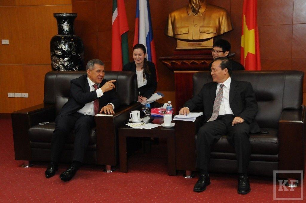 Минниханов: Татарстану и Вьетнаму необходимо углубить отношения в образовательной сфере