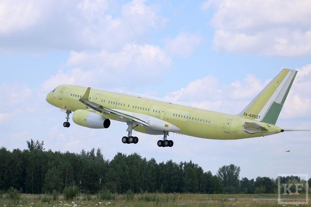 Новый самолет, построенный в Казани, совершил первый испытательный полет