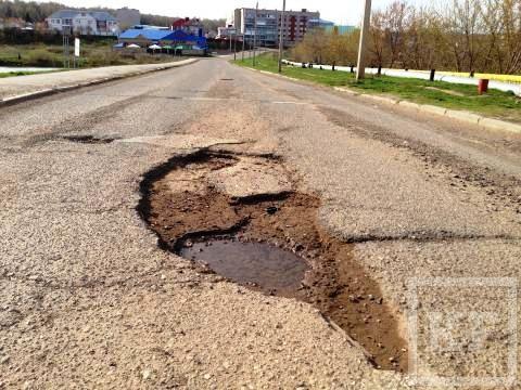 На ремонт дорог в Лениногорске необходимо 800 млн рублей, но выделено только 100 млн