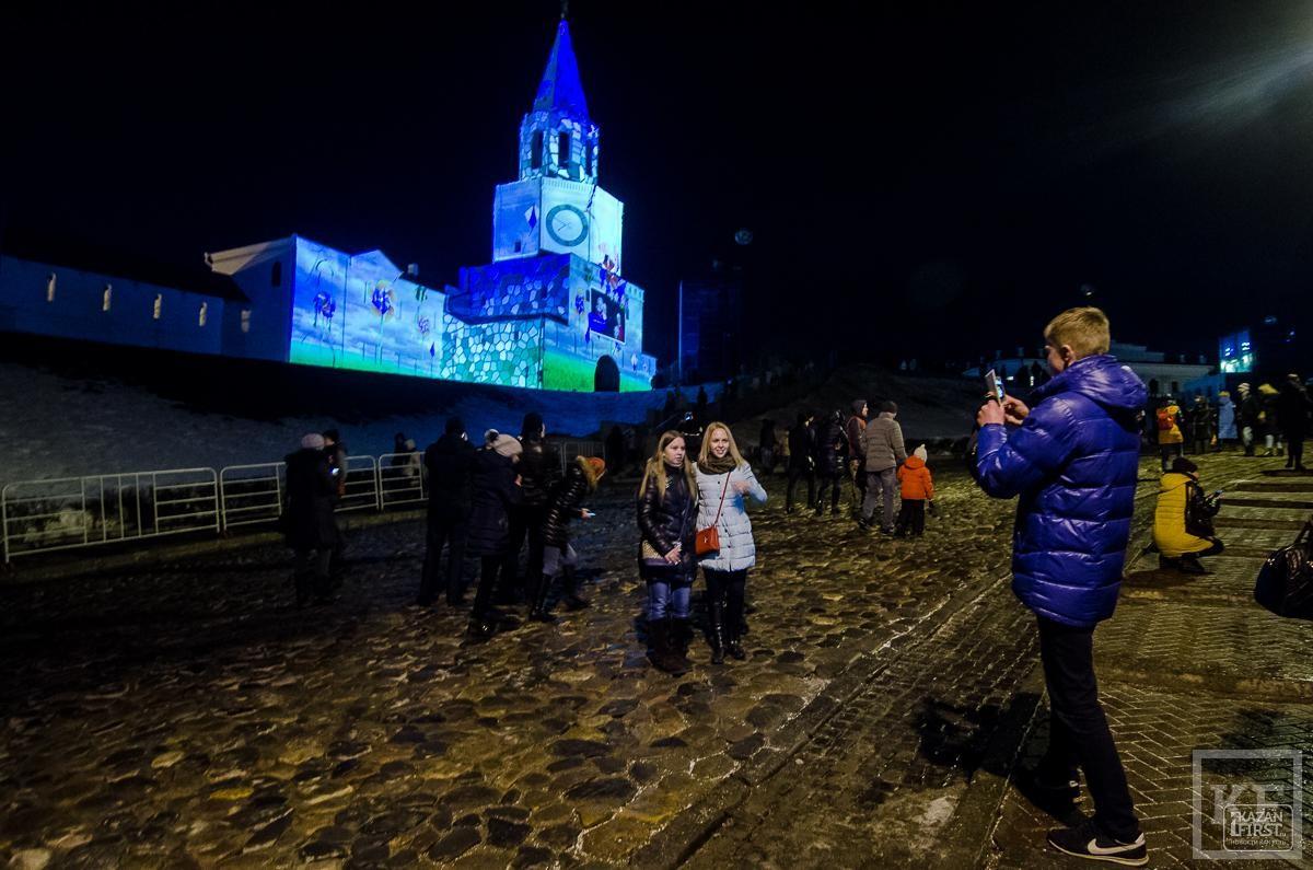 На стенах Казанского Кремля вновь показывают маппинг-шоу