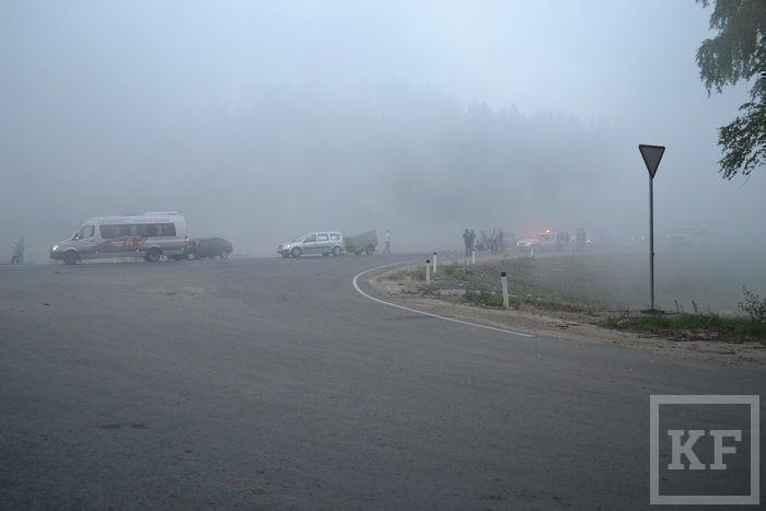 На трассе Йошкар-Ола – Зеленодольск столкнулись 11 машин [фото]