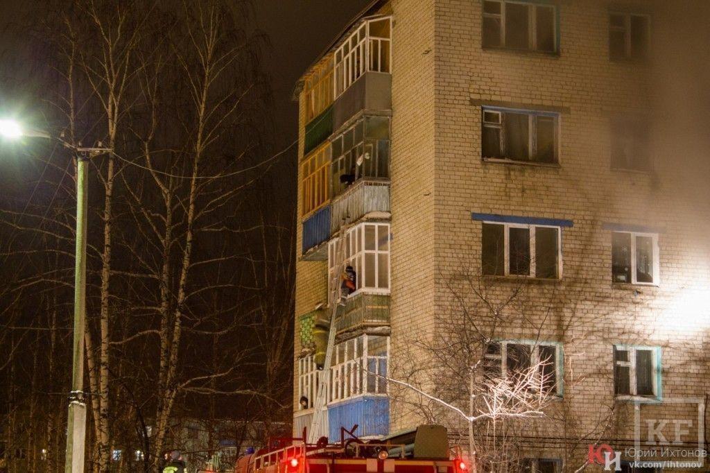В Зеленодольске произошёл сильный пожар, в котором погиб один человек