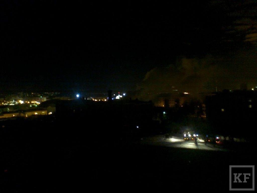 В Казани горела бывшая Шамовская больница