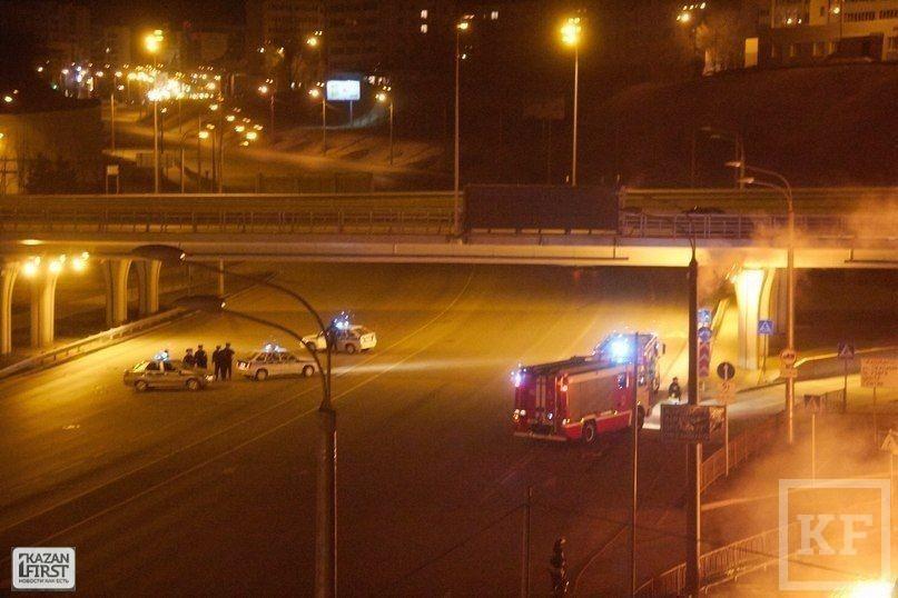 На улице Эсперанто в Казани ночью горела территория новостройки