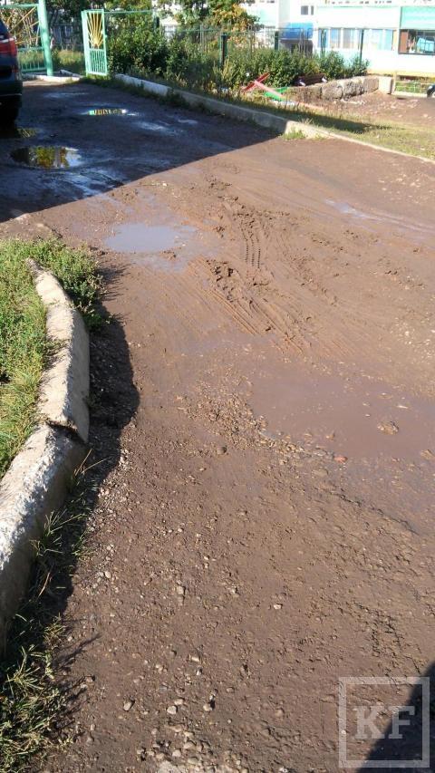 Жители Лениногорска жалуются на разбитые дороги