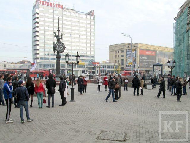 В Казани прошёл пикет в поддержку Навального