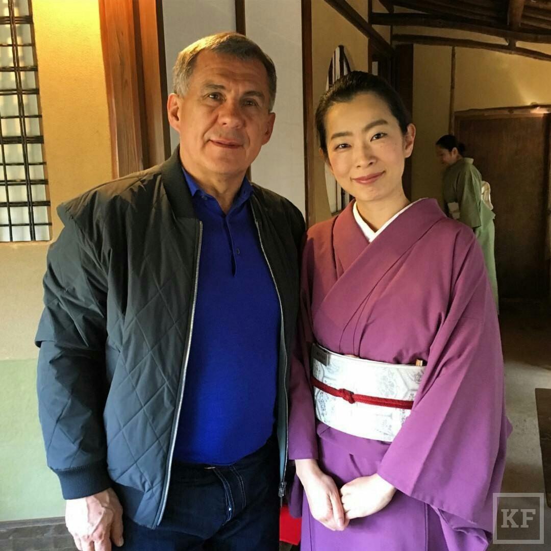 Минниханов «Вконтакте»: чайная церемония в Японии