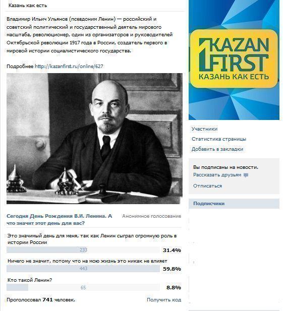 День рождения Ленина глазами казанцев