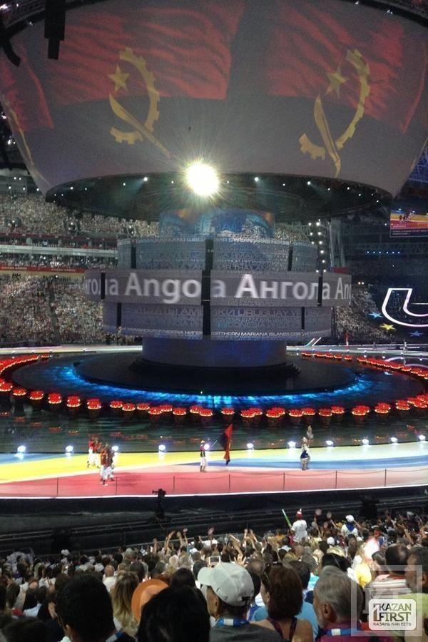 Открытие Универсиады: началось шествие спортсменов по