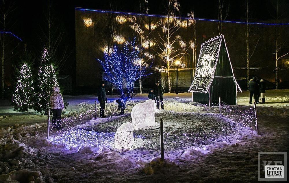 В Нижнекамске открылся новогодний городок ТАИФ-НК