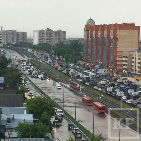 Казань снова затопило после ливня