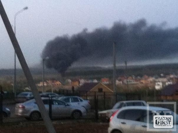 В Казани огромный пожар