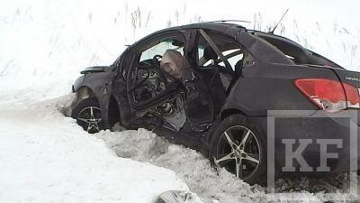 Недалеко от Чистополя произошло ДТП, в котором погибло 2 человека