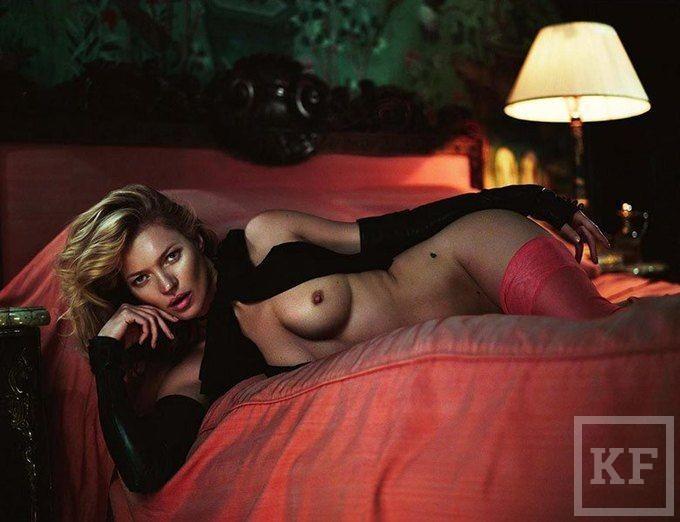 В сети появилась фотосессия Кейт Мосс для юбилейного выпуска Playboy