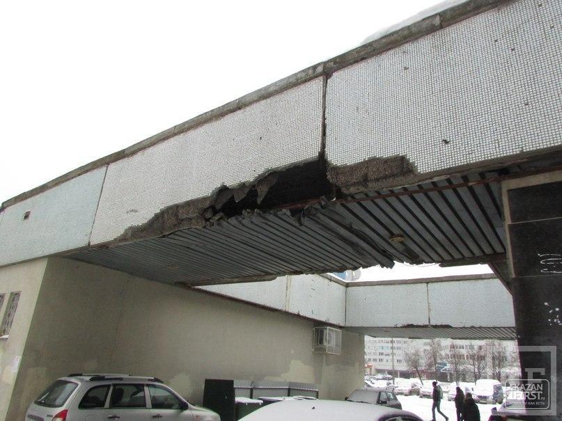 На жителей Набережных Челнов угрожает рухнуть арка, объединяющая дома