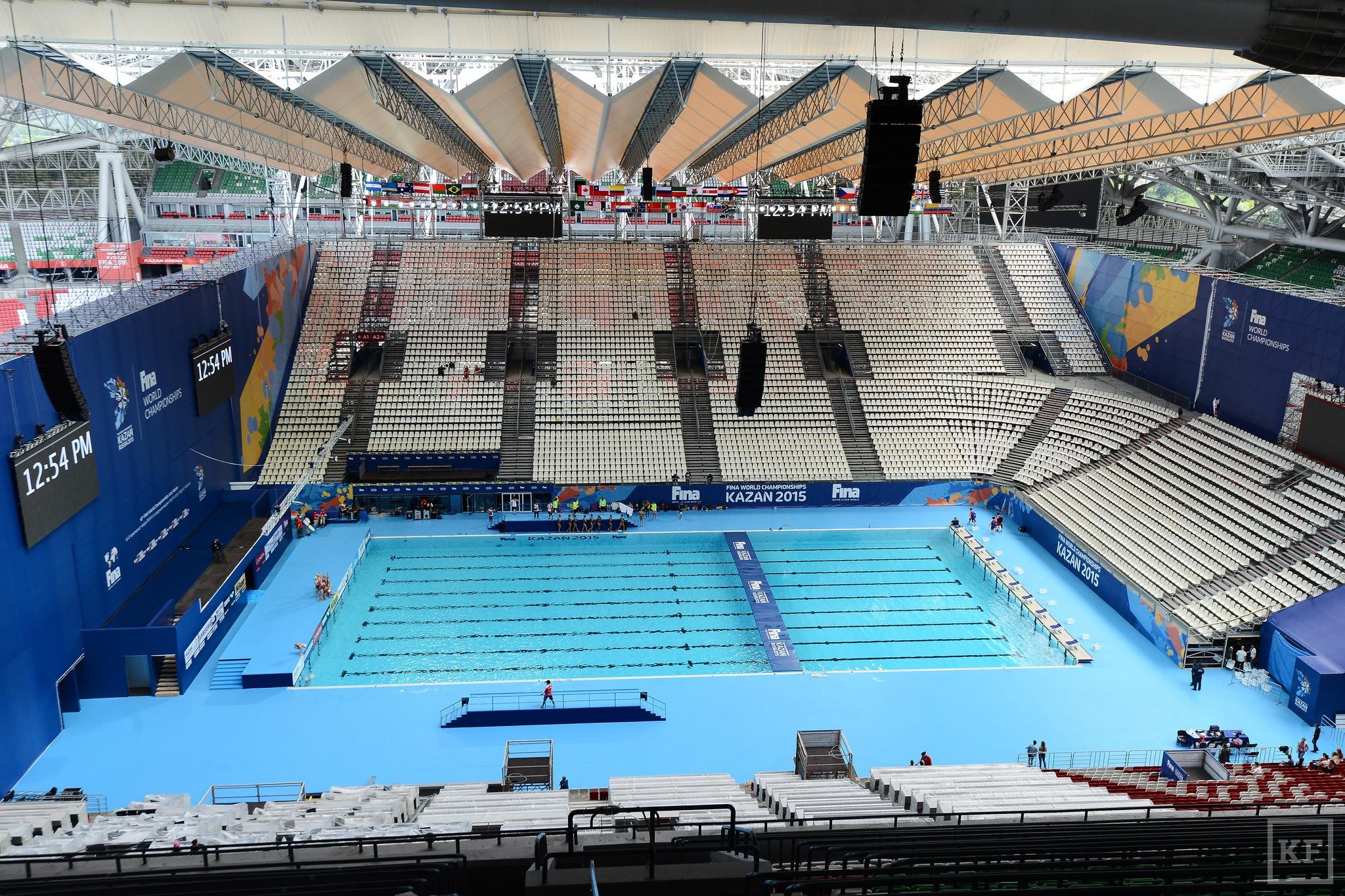 Один из двух 50-метровых бассейнов, в которых проходил Чемпионат мира по водным видам спорта, отправится в Набережные Челны