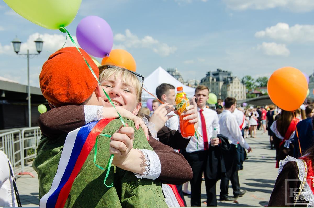В Казани последний звонок прозвенел для 5500 школьников