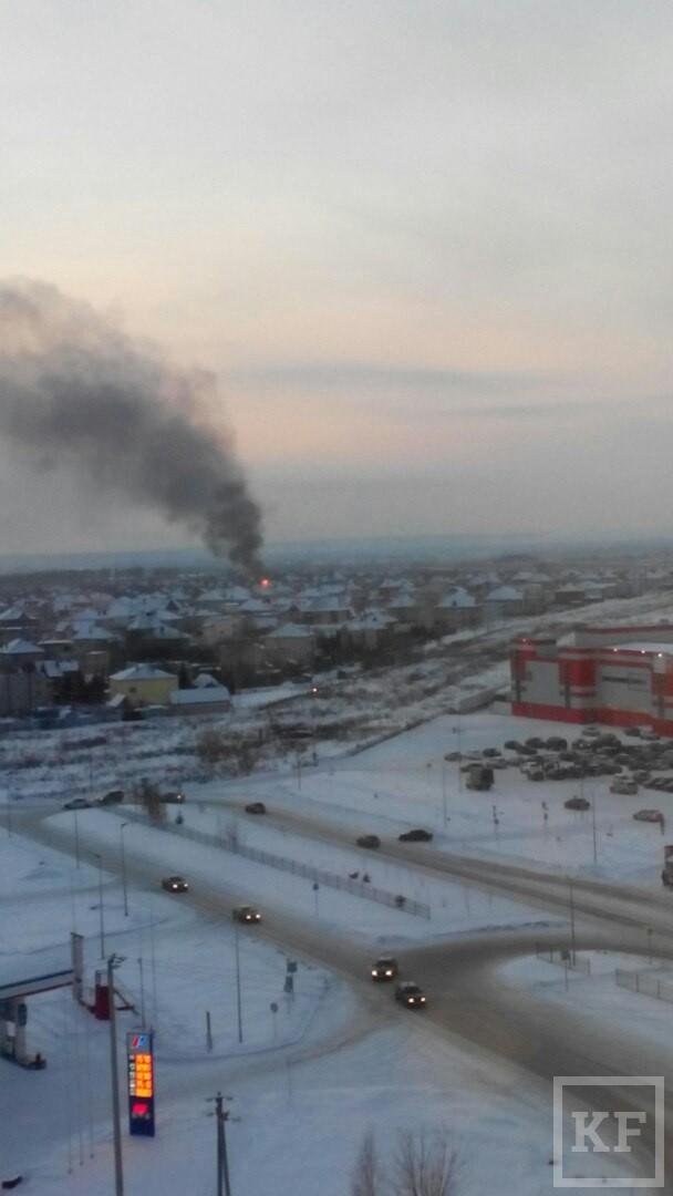 В Нижнекамске сгорел бомж, гревшийся в чужом доме