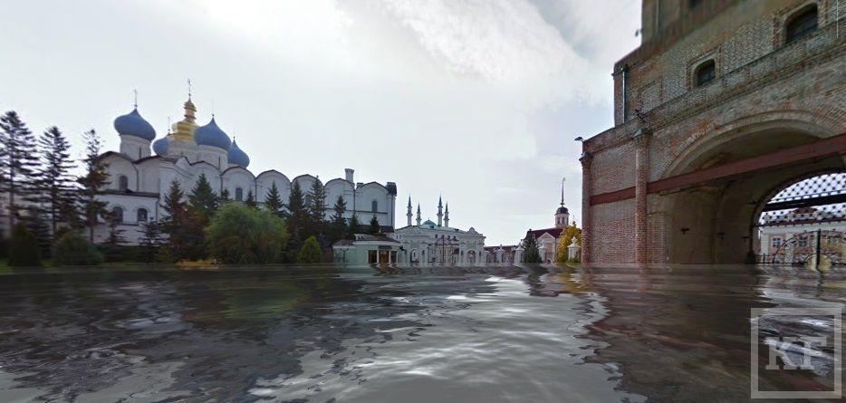 Эко-активисты затопили Казань в Google Street View