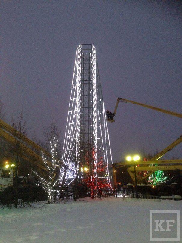 Главной башней на елке ТАИФ-НК в этом году будет копия несуществующей  башни