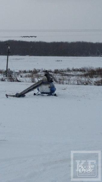В Альметьевском районе во время посадки у вертолета отломилась хвостовая часть
