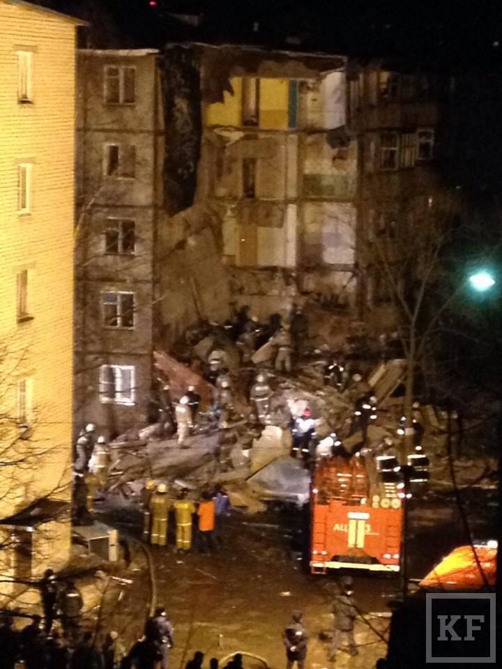 МЧС: в Ярославле от взрыва газа обрушился подъезд жилого дома, есть пострадавшие
