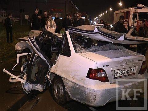 В результате крупной аварии, произошедшей возле стадиона «Казань-арена», пострадали 7 человек