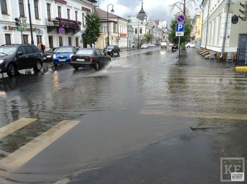 Центр Казани снова оказался затопленным [фото]