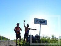 Казанские велосипедисты проехали Омск