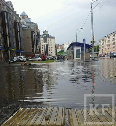 В Казани затопило ряд центральных улиц [фото]