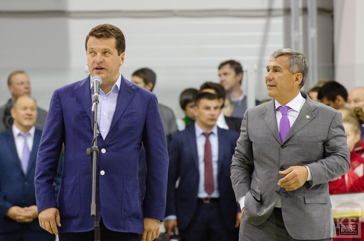 Открытие нового ледового дворца «Золотая шайба» в Казани