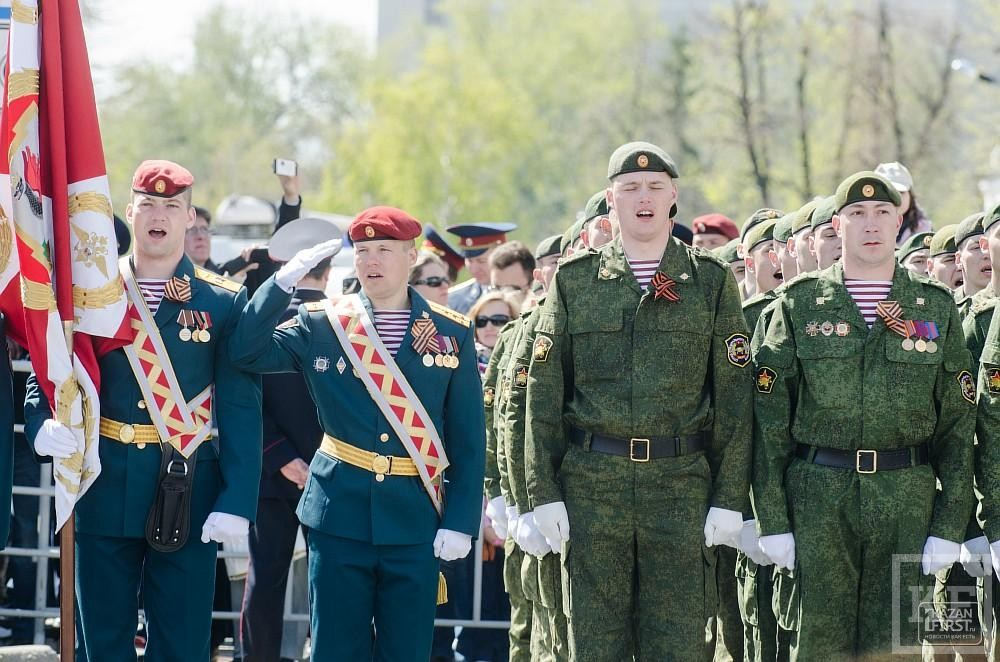 Парад в честь празднования 70-летия Победы в Великой Отечественной войне прошел в Казани