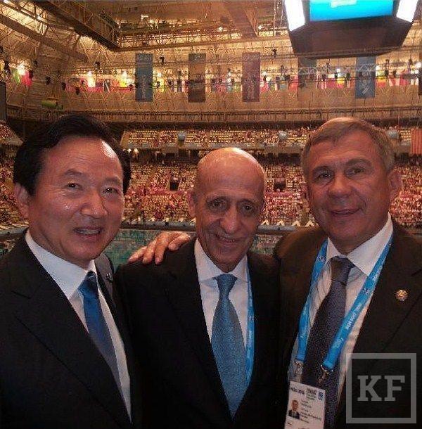 Рустам Минниханов опубликовал фото с открытия XV чемпионата мира по водным видам спорта [фото]