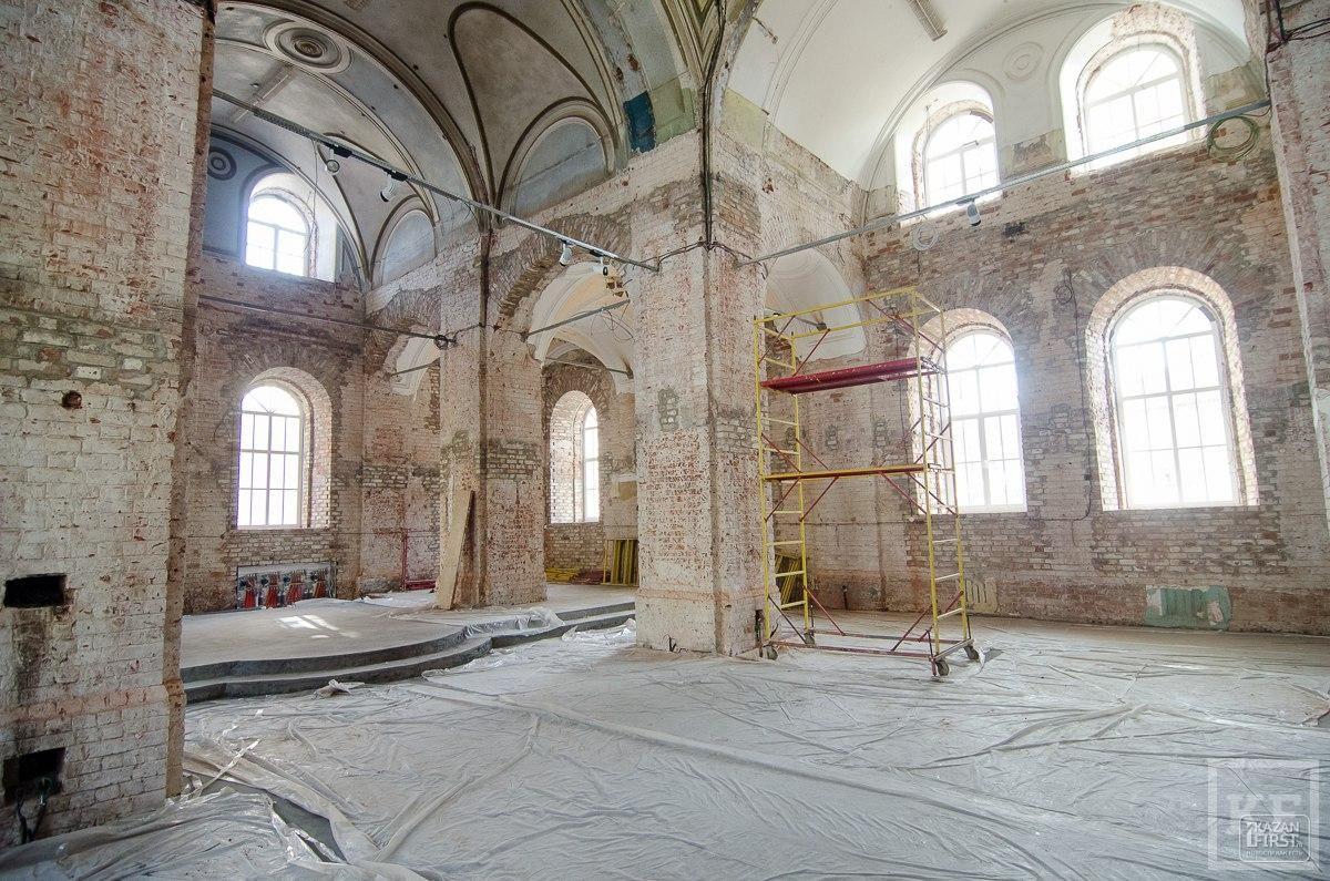 В центре Казани реставрируют забытый храм, который станет важным местом в туристическом маршруте на пути следования из Казанского кремля