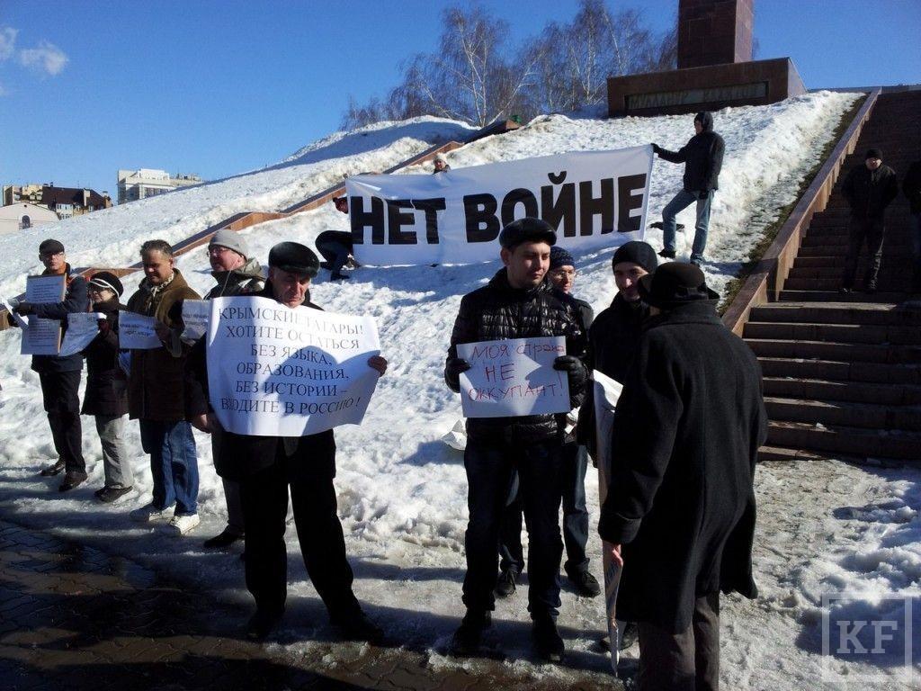 В центре Казани проходит антивоенный пикет