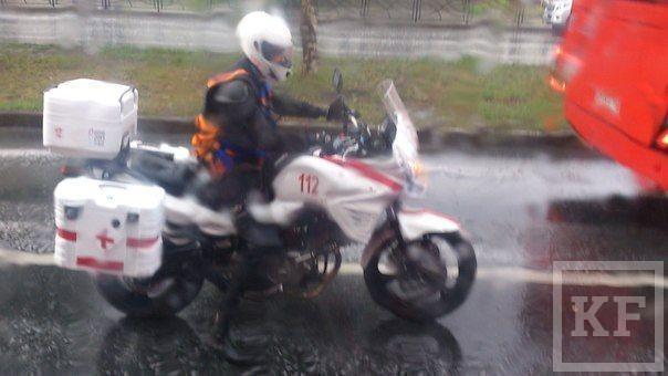 Скорая помощь на мотоцикле замечена в Казани [фото]