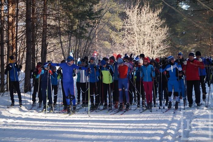 Рекордное для Елабуги количество людей приняло участие в «Лыжне России»