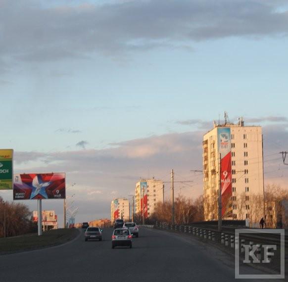 Оформление Набережных Челнов ко Дню Победы признали одним из лучших в Татарстане