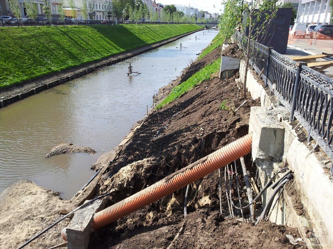 На Булаке в Казани начали строить ливневую канализацию