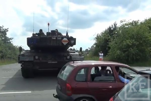Колонна немецких танков пересекла границу Украины