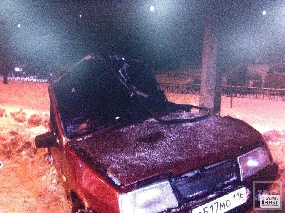 В Казани из-за снегопада произошло серьезное ДТП