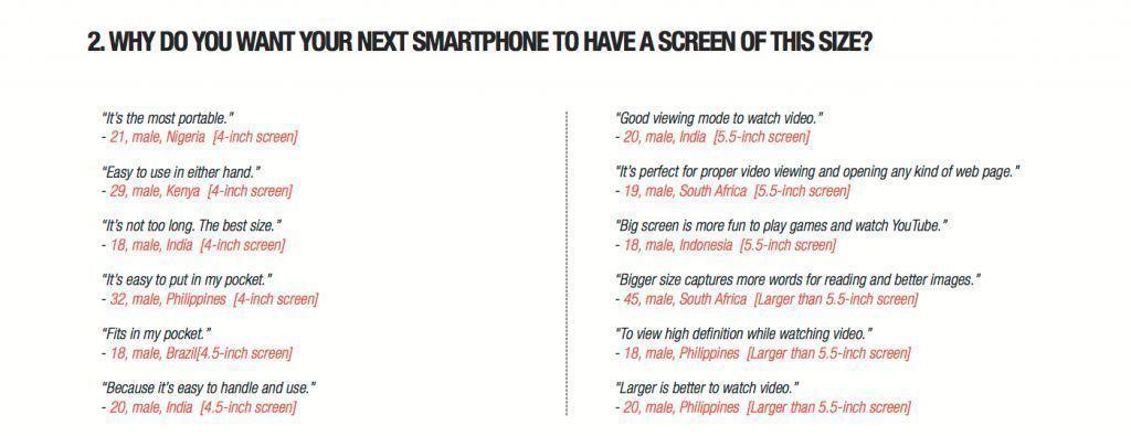 Данные исследований компании Jana: людям нравятся смартфоны с большим дисплеем