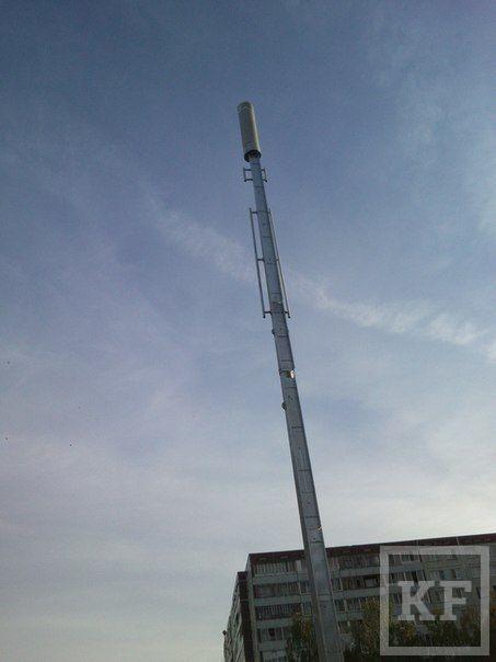 На спецопоры перенесли с крыш домов антенны сотовых операторов в Челнах