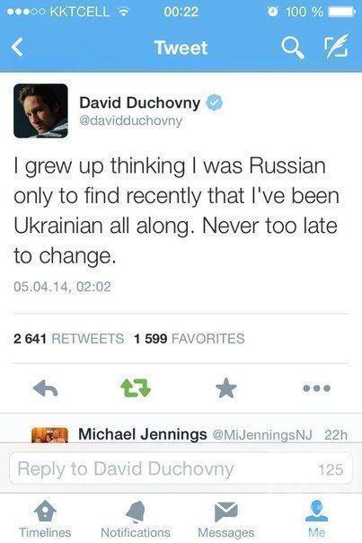 Дэвид Духовны: на самом деле я - украинец