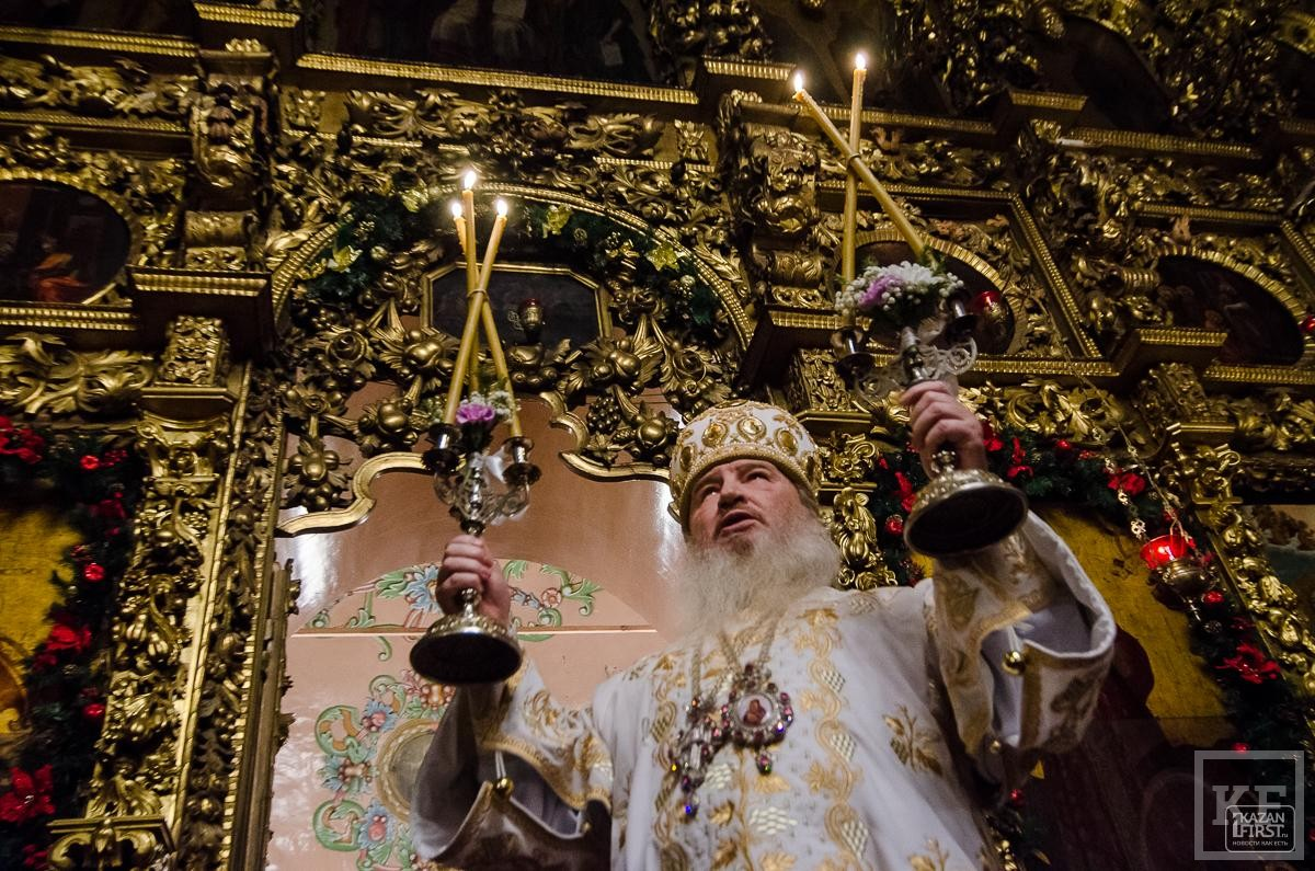 Рождественское богослужение в Казани