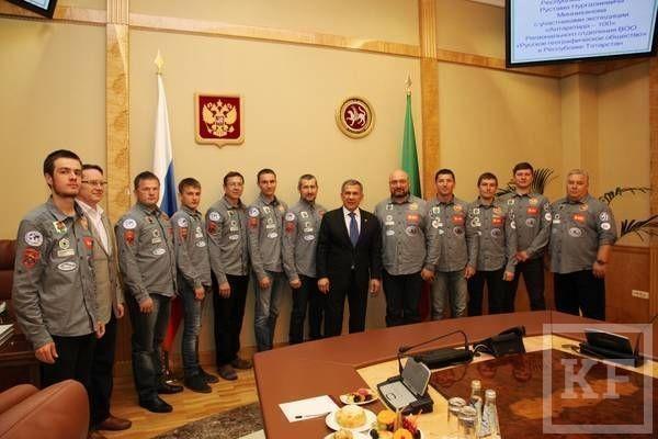 Рустам Минниханов встретился с участниками экспедиции «Антарктида - 100»