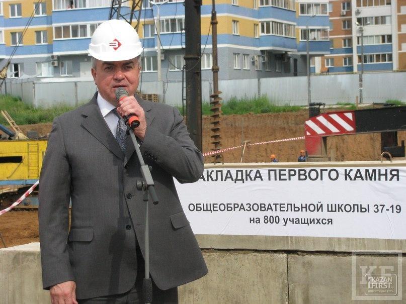 Школы в Набережных Челнах не строились 20 лет. Накануне Магдеев заложил первый камень в фундамент новой школы