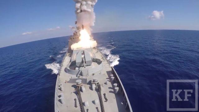 Минобороны России опубликовало видео пусков ракет по объектам ИГ