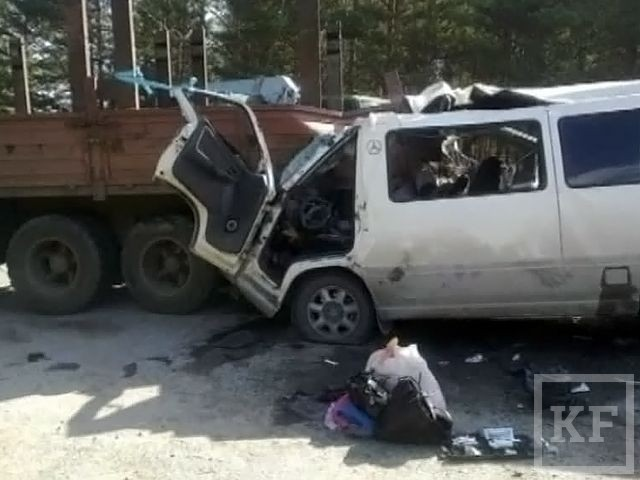 Столкновение маршрутки и «КамАЗа» унесло жизни шестерых человек